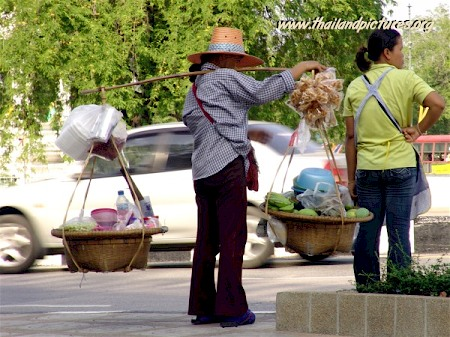 Two Thai woman selling food on the streets of Bangkok