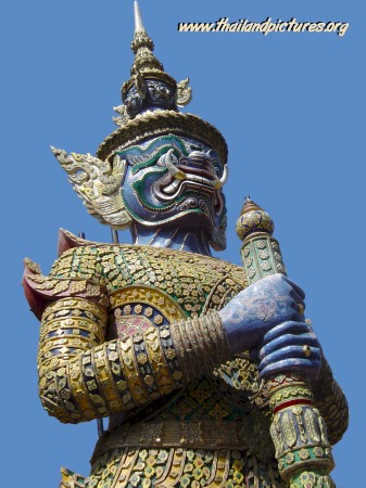 A thai temple guard statue