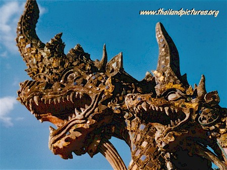 An image from a stone dragon in Thailand